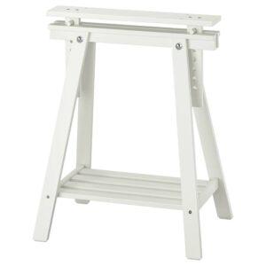 МИТТБАКК Опора для стола, белый массив дерева 58x70/93 см - 204.709.95