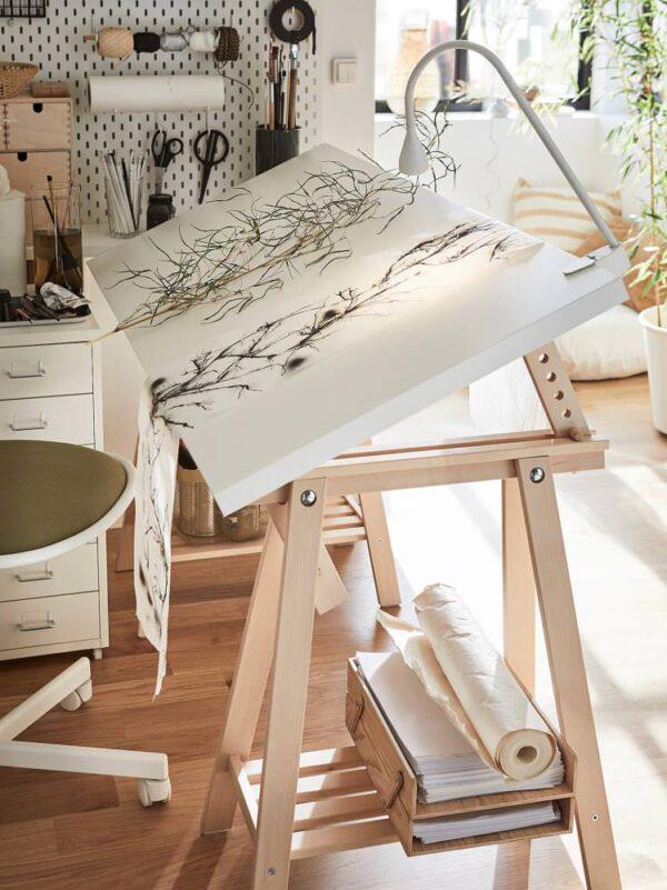 МИТТБАКК Опора для стола, береза 58x70/93 см - 704.599.95