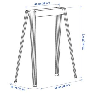 НЭРСПЕЛЬ Опора для стола, темно-серый металлический - 704.712.47
