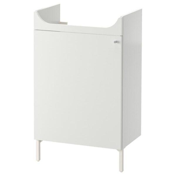 НЮШЁН Шкаф под раковину, белый 50x83 см - 404.708.57