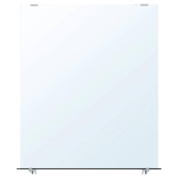НЮШЁН Зеркало с полкой, белый 50x60 см - 704.708.65