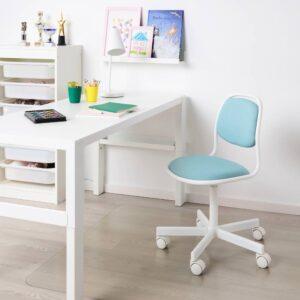 ОРФЬЕЛЛЬ Детский стул д/письменного стола, белый/Висле синий/зеленый - 604.417.84