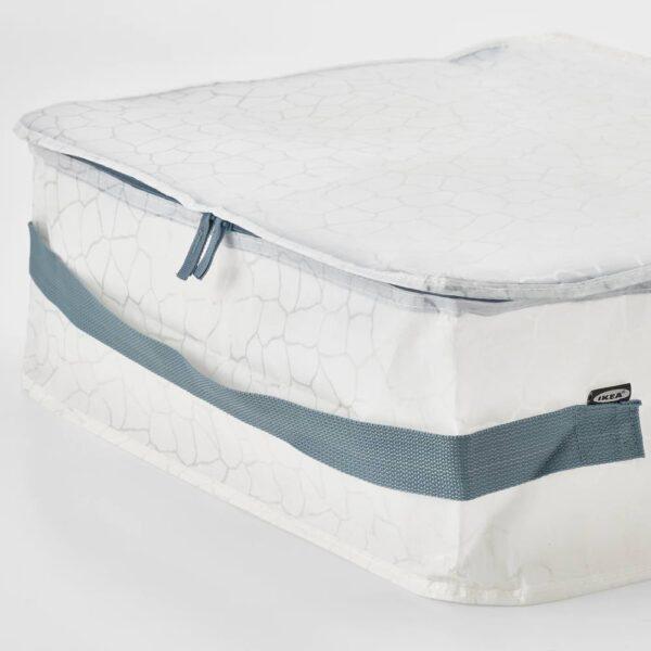 ПЛУГГХЭСТ Сумка для хранения, с рисунком белый/прозрачный 55x49x19 см - 704.886.48