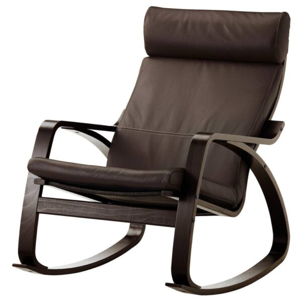 ПОЭНГ Кресло-качалка, черно-коричневый/Глосе темно-коричневый - 093.987.79