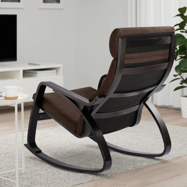 ПОЭНГ Кресло-качалка, черно-коричневый/Шифтебу коричневый - 693.987.81