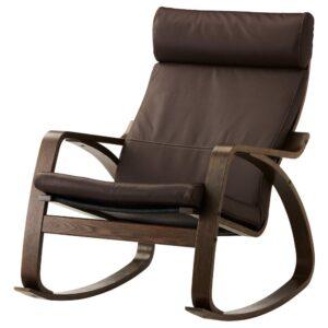 ПОЭНГ Кресло-качалка, коричневый/Глосе темно-коричневый - 393.987.87