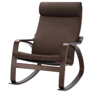 ПОЭНГ Кресло-качалка, коричневый/Шифтебу коричневый - 593.987.91