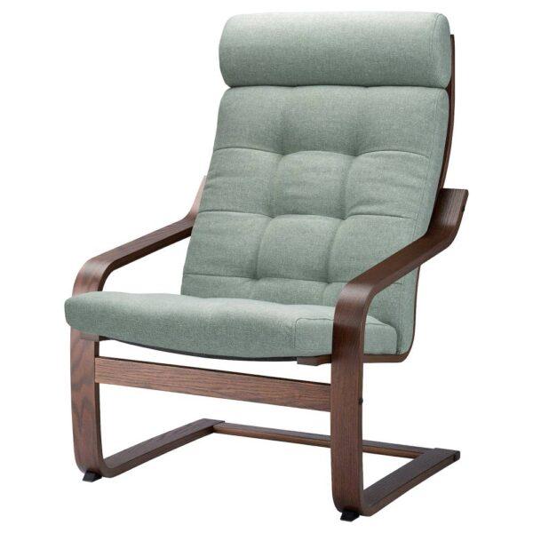 ПОЭНГ Кресло, коричневый/Гуннаред светло-зеленый - 094.372.24