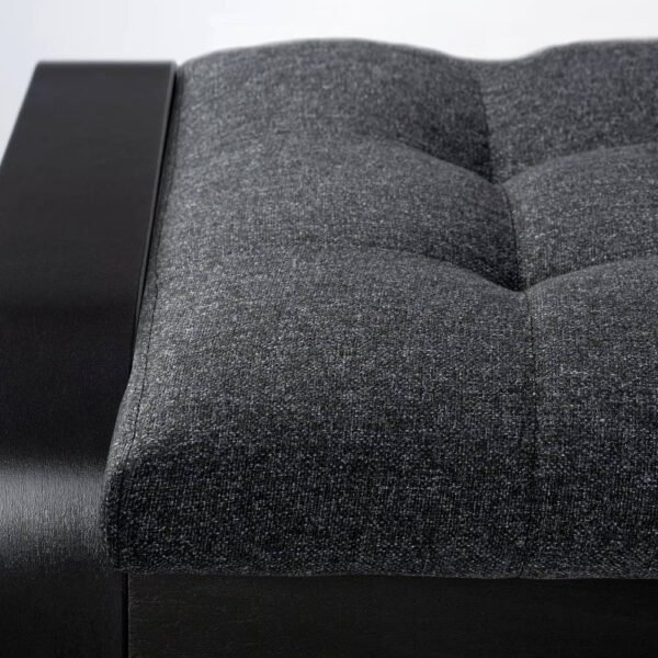 ПОЭНГ Табурет для ног, черно-коричневый/Гуннаред темно-серый - 394.372.27