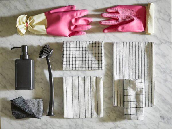 РИННИГ Салфетка кухонная, серый 25x25 см - 104.962.98