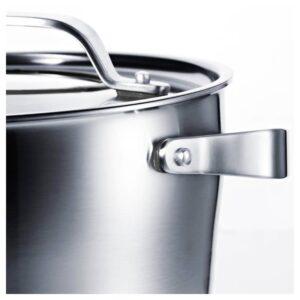 СЕНСУЭЛЛ Кастрюля с крышкой, нержавеющ сталь/серый 5.5 л - 503.791.84