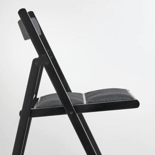 ТЕРЬЕ Стул складной, черный/Книса темно-серый - 404.862.69