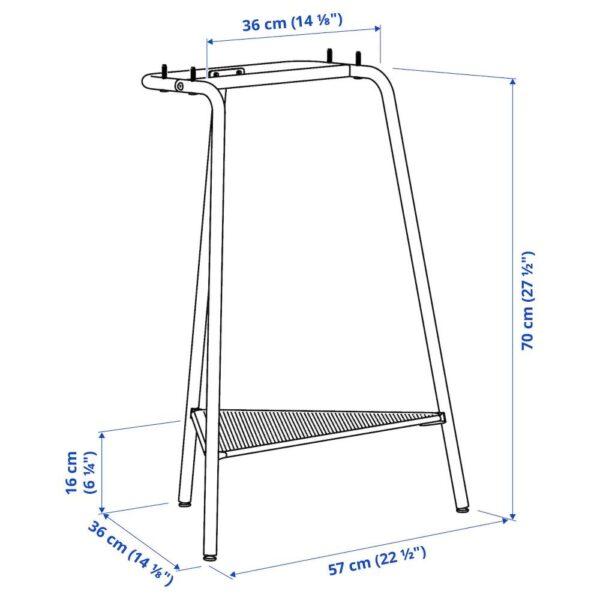 ТИЛЛЬСЛАГ Опора для стола, темно-синий металлический - 604.709.98