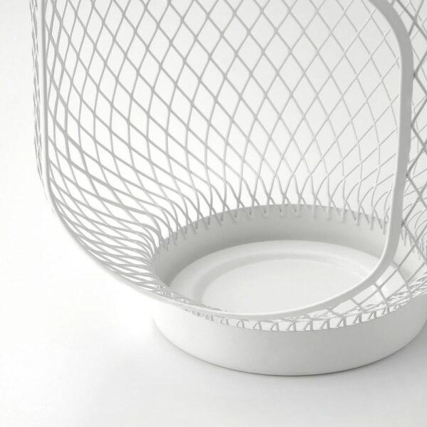 ТОППИГ Фонарь для формовой свечи, белый 22 см - 404.833.79