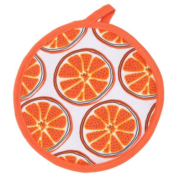 ТОРВФЛЮ Прихватка, с рисунком/оранжевый - 504.930.52