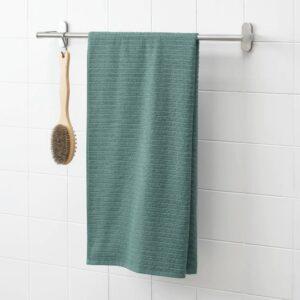 ВОГШЁН Банное полотенце, серо-бирюзовый 70x140 см - 504.880.36
