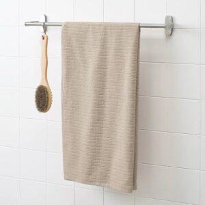 ВОГШЁН Банное полотенце, светло-бежевый 70x140 см - 704.946.11