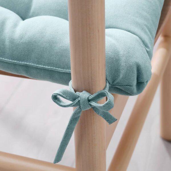ВИППЭРТ Подушка на стул, голубой 38x38x6.5 см - 404.956.45