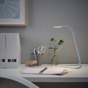 ХОРТЕ Рабочая лампа, светодиодная, голубой/серебристый - 605.075.72