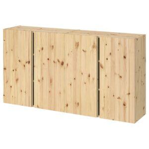 ИВАР Навесной шкаф с дверями, сосна 160x30x83 см - 094.174.62