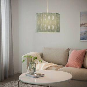 ЛЁКНЭС / ХЕММА Подвесной светильник, синий/серебристый 42 см - 094.160.52