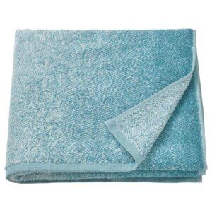 НЮККЕЛЬН Банное полотенце, белый/бирюзовый 70x140 см - 304.943.16
