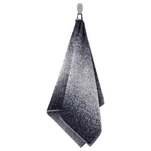 НЮККЕЛЬН Полотенце, белый/темно-синий 50x100 см - 804.943.90