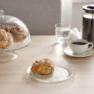 СЭЛЛЬСКАПЛИГ Тарелка десертная, прозрачное стекло/с рисунком 20 см - 304.733.33