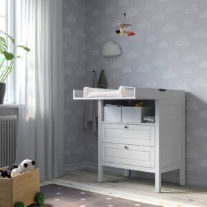 СУНДВИК Пеленальный стол/комод, серый - 004.940.30