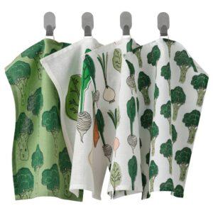ТОРВФЛЮ Полотенце кухонное, с рисунком/зеленый 30x40 см - 304.930.67
