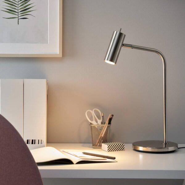 ВИРРМО Лампа рабочая, никелированный 54 см - 004.713.64