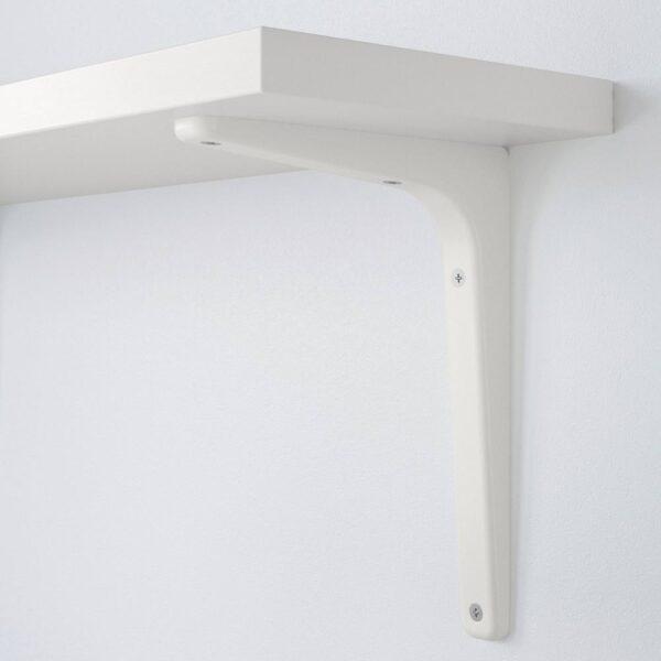 БЕРГСХУЛЬТ / ТОМТХУЛЬТ Полка с консолью, белый 120x20 см - 594.183.17