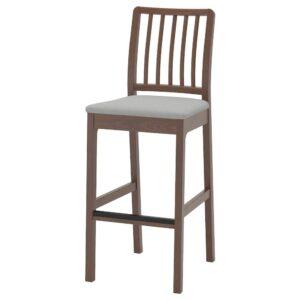 ЭКЕДАЛЕН Стул барный, коричневый/Оррста светло-серый 75 см - 404.005.48