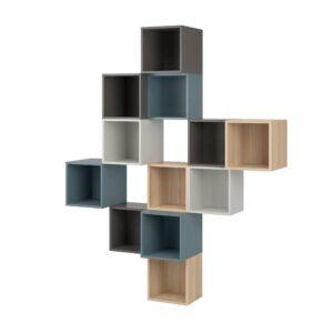 ЭКЕТ Комбинация настенных шкафов, разноцветный 2 175x35x210 см - 894.424.05