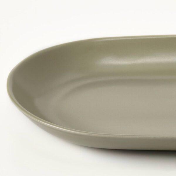 ФЭРГКЛАР Блюдо, матовая поверхность зеленый 32x18 см - 904.772.05