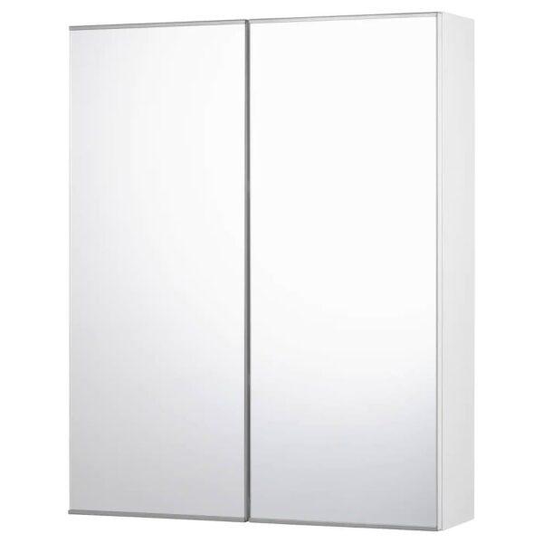 ФИСКОН Зеркальный шкаф с 2 дверцами, белый 60x15x75 см - 804.976.28