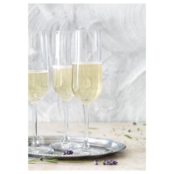ХЕДЕРЛИГ Бокал для шампанского, прозрачное стекло 22 сл - 805.185.60