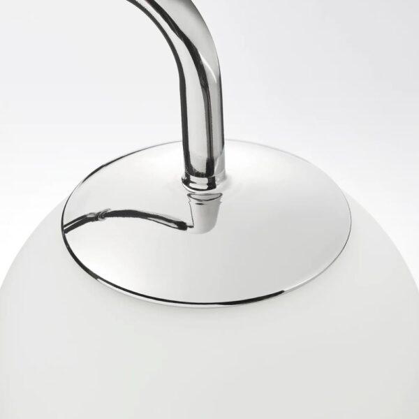 СИМРИСХАМН Бра с поворотным штативом, хромированный/молочный стекло - 104.390.95