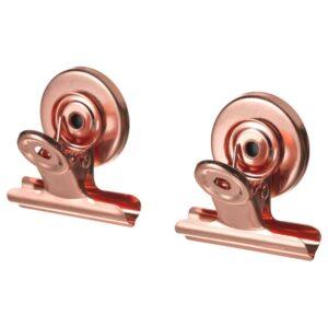 ТОТЭБО Зажим для бумаг, с магнитом, розовый/золотой - 004.782.52
