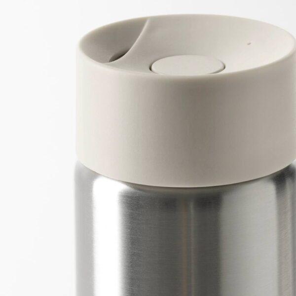 УНДЕРСОКА Термокружка, нержавеющ сталь/бежевый 0.4 л - 705.008.29