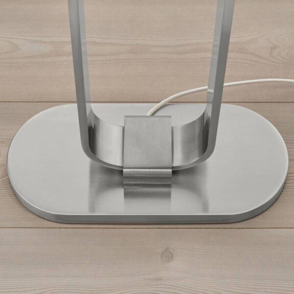 УППВИНД Светильник напольный, никелированный/белый 150 см - 504.378.29