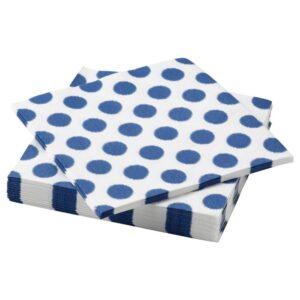 ВАТТЕНДАНС Салфетка бумажная, точечный/синий 33x33 см - 704.980.77