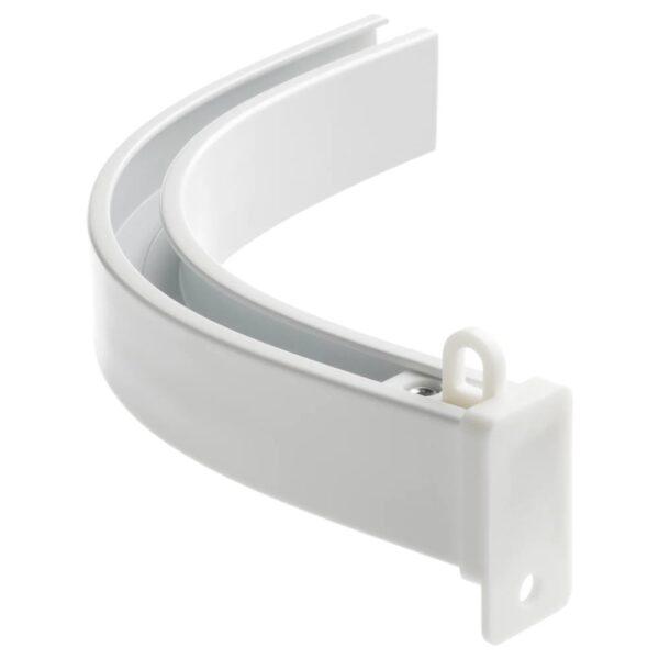 ВИДГА Угловое соединение д/одинарной шины, прилагающиеся потолочные крепления/белый - 904.983.83