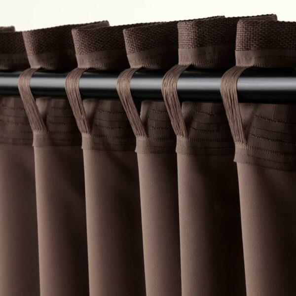 АННАКАЙСА Затемняющие гардины, 2 шт., коричневый 145x300 см - 704.981.43