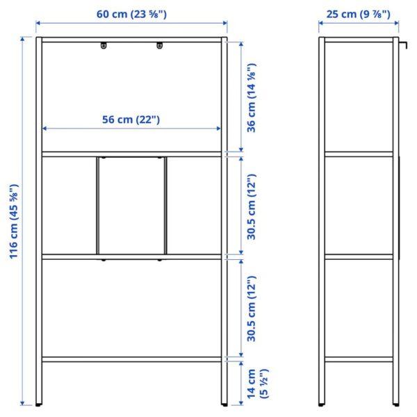 БАГГЕБО Стеллаж, металлический/белый 60x25x116 см - 404.838.74