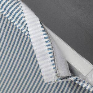 БЕРГМУНД Чехол для барн таб со спинкой, Роммеле темно-синий/белый - 304.862.60