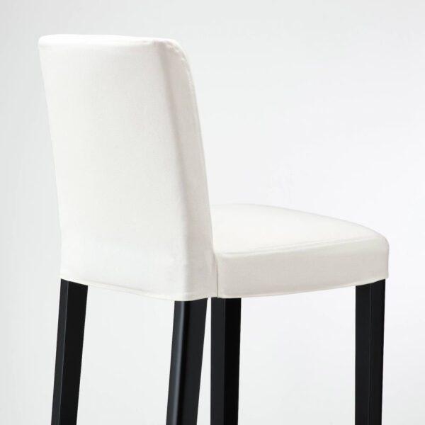 БЕРГМУНД Стул барный, черный/Инсерос белый 75 см - 593.846.52