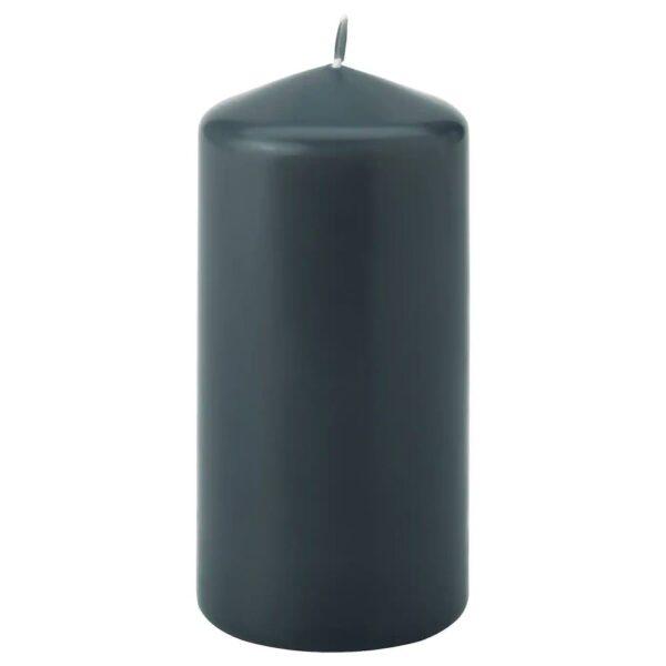 ДАГЛИГЕН Неароматич свеча формовая, темно-серый 14 см - 304.967.54