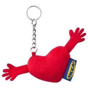 ЭФТЕРТРЭДА Кольцо для ключей, сердце - 405.148.99