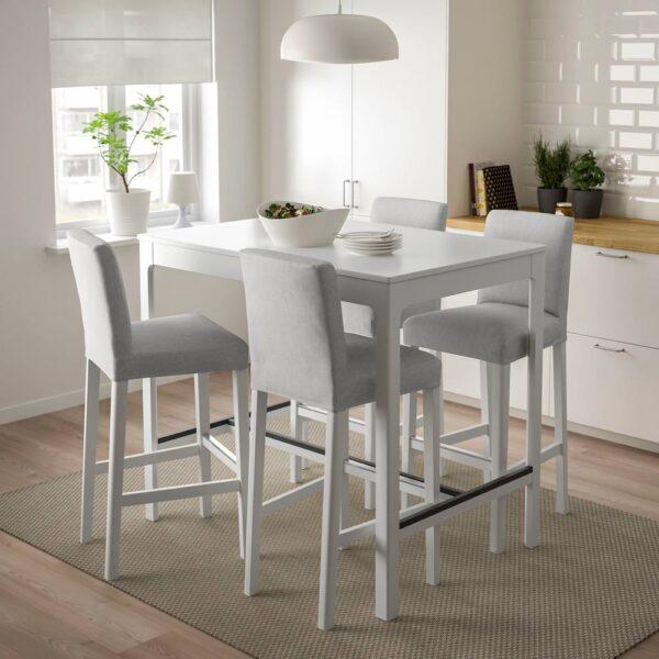 ЭКЕДАЛЕН / БЕРГМУНД Барн стол+4 барн стула, белый/Оррста светло-серый/белый - 494.088.99